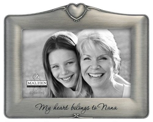 My Heart Belongs To Nana pewter frame by Malden - 4x6