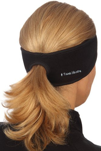 Goodbye Girl Ponytail Headband, black, black trim