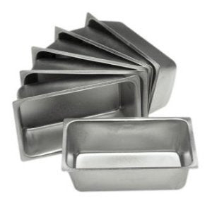 Set of 6 Mini Loaf Pans - 4.5 X 2.5 Inch