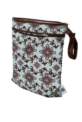 Planet Wise Wet/Dry Diaper Bag (Color: Aqua Swirl)