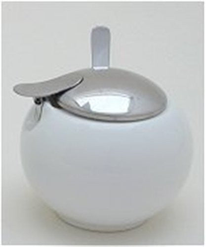 Round Small White Sugar Jar 6.50 Ounces