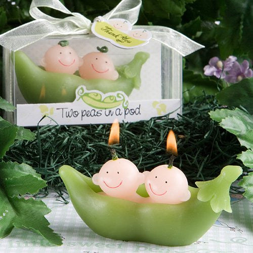 Two Peas In A Pod Collection Candle Favors