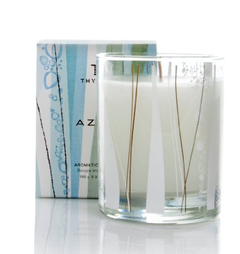 Thymes Poured Aromatic Candle, Azur