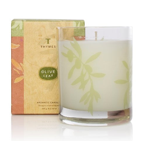 Thymes Aromatic Candle, Olive Leaf