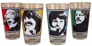 The Beatles Let It Be 4PK Pub Pint Drinking Glasses