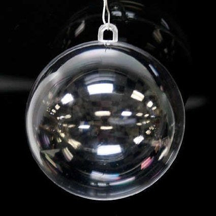 "3"" Clear Snap-Together Round Ornaments (Pack of 12)"
