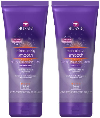Aussie Miraculously Smooth No-Frizz Gel Flexible Hold 7oz