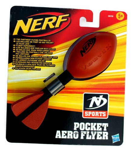 Nerf Pocket Aero Flyer Football - Brown/Black