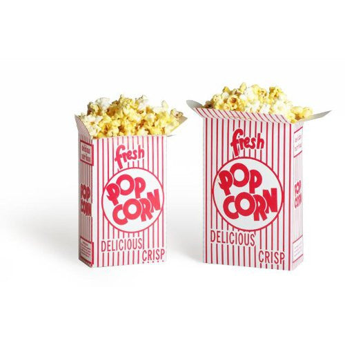 50 Movie Theater Popcorn Boxes .75 Ounce (Oz) Box