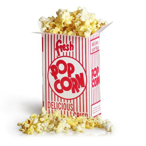 100 Movie Theater Popcorn Boxes .75 Ounce (Oz) Box