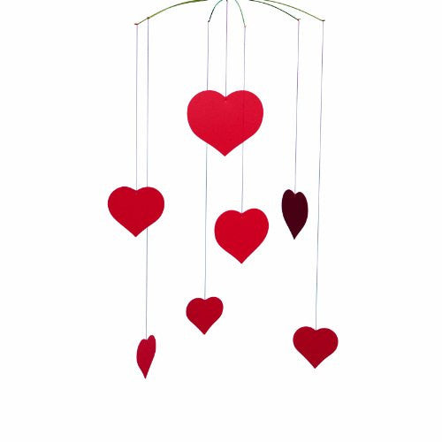 Flensted Mobiles Nursery Mobiles, Happy Hearts