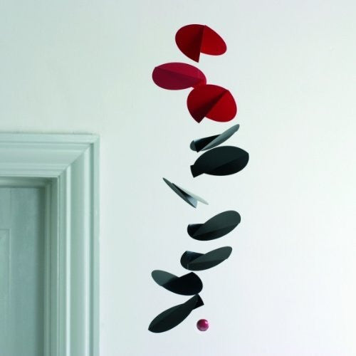 Turning Leaves Mobile Sculpture by Flensted Mobiles - Black/Red