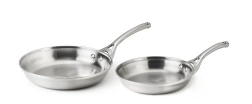"Calphalon Contemporary Stainless 8"" & 10"" Omelette Pan Set"