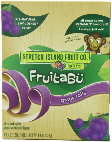 Fruitabu Fruit Snacks Organic Smooshed Grape 4.4 OZ