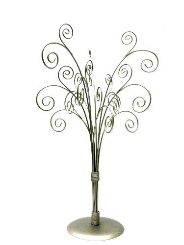 Table Top Card Holder and Jewelry Tree in silver