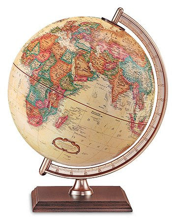 "Forester Antique Style World Globe; 9"" Diameter; no. RE-51533"