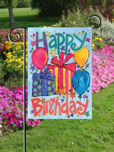 Happy Birthday Garden Decorative Flag