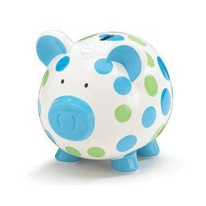 BANK BOY PIG DOTTED