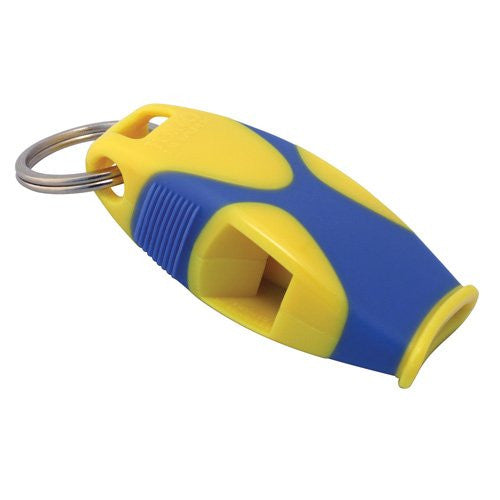 Fox 40 Sharx Whistle with Lanyard (Color: Yellow/Blue)