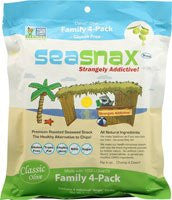 SeaSnax Roasted Seaweed, Classic Olive, 2.16-Ounce