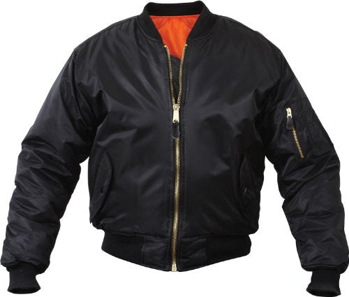 MENS MA1 FLIGHT JACKET BLACK S