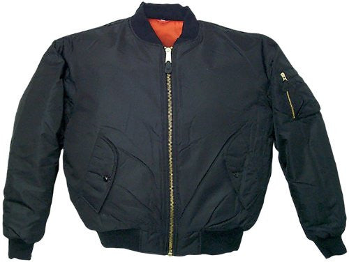 MENS MA1 FLIGHT JACKET BLACK XXL