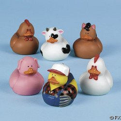 Farm Rubber Duckies 12-pc