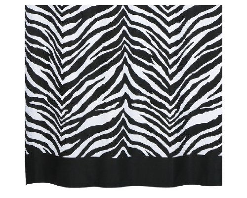 Zebra Shower Curtain Black & White