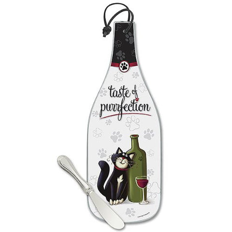 """Taste of Purrfection"" Cute Cat Cheese Server & Spreader"
