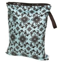 Planet Wise Wet Diaper Bag, Aqua Swirl, Medium