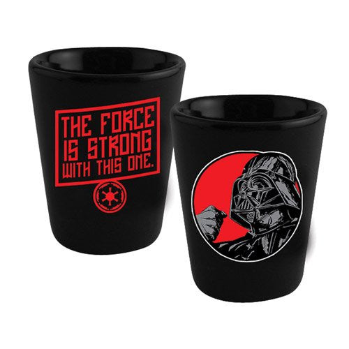 Star Wars Darth Vader The Force Is Strong Ceramic Shot Glass