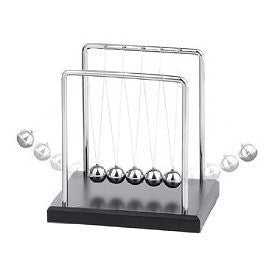 Westminster Newton's Cradle with Black Wood Base