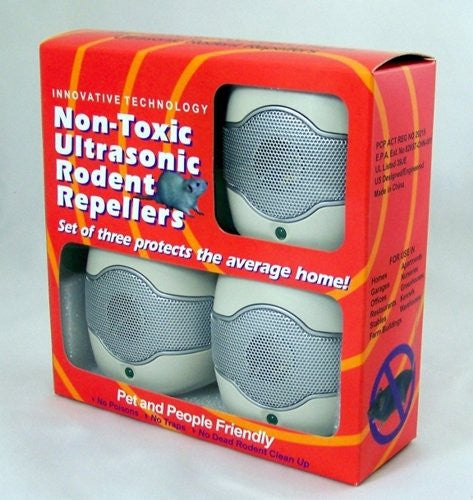 Ultrasonic Rodent Repeller Direct Plug In -3 Single Speaker Units with Unique SWEPT Frequency