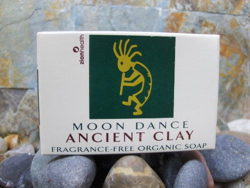 Zion Health Ancient Clay Soap Moon Dance Fragrance Free 6 oz Bar
