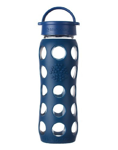 22 oz Glass Bottle with Classic Cap, Midnight Blue