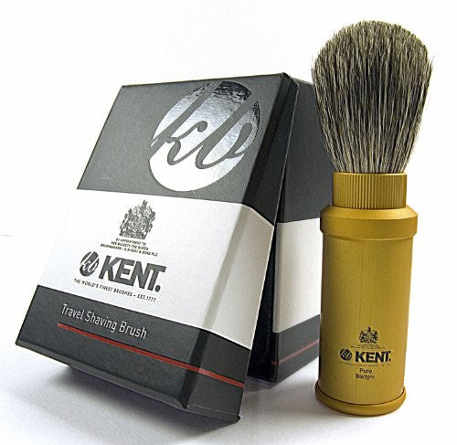 Kent Travel Shave Brush with Black Handle TR2