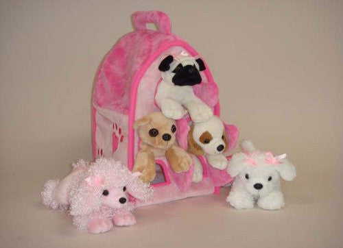 "12"" PINK DOG HOUSE"