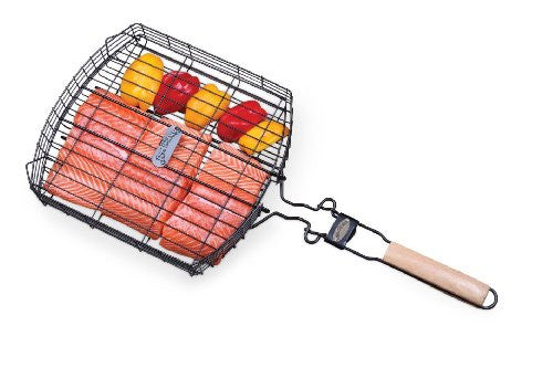 Jim Beam Extra Large Grilling Basket w/ Removable Handle