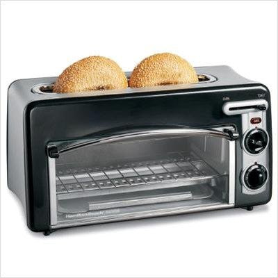 Hamilton Beach Toastation 2-Slice Toaster & Oven - Black & S/S