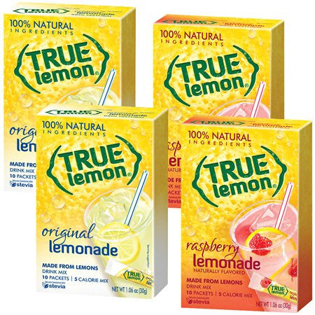 2 True Lemonade, 2 True Raspberry Lemonade ORDER 1 OF EACH GIVEN ITEM NUMBER TO MATCH AMAZON LISTING