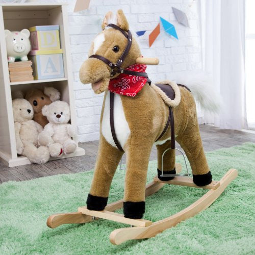 Blonde Horse Rocker (Moving Mouth &Tail)