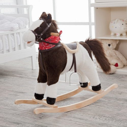 Pinto Horse Rocker (Moving Mouth & Tail)