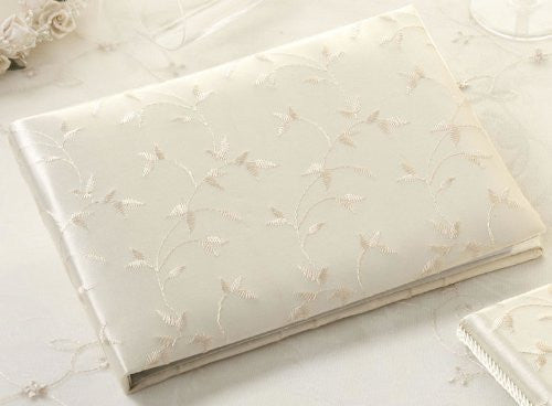 Ivory Embroidery Guest Book
