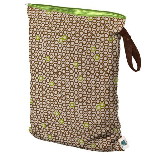 Planet Wise Diaper Wet Bag (Size: Large Color: Lime Cocoa Bean)