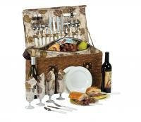 Woodstock 4-Person Deluxe Picnic Basket Picnic Set