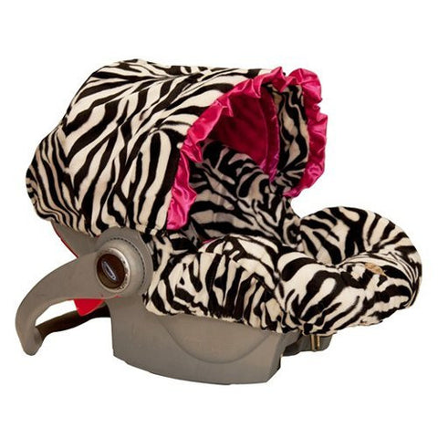 Zoe Zebra Infant Car Seat Cover