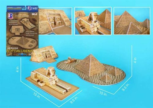 Egyptian Pyramids 3D Puzzle 38 Pieces