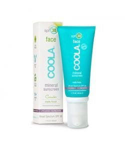 Coola Mineral Face SPF 30 Sunscreen Lotion, Matte Cucumber, 1.7 Ounce