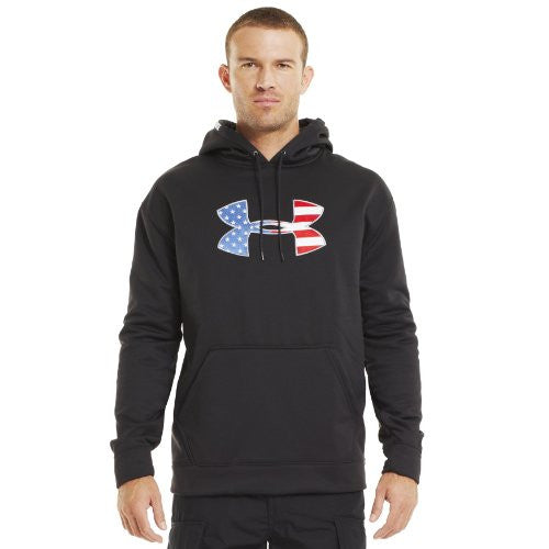 Big Flag Logo Tackle Twill Hoody - Black, Small