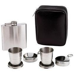Maxam 6 Ounce Flask with Collapsible Cup